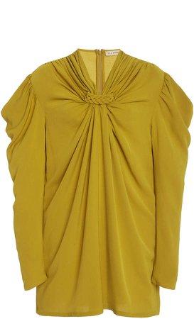Ulla Johnson Ynez Ruched Crepe De Chine Dress