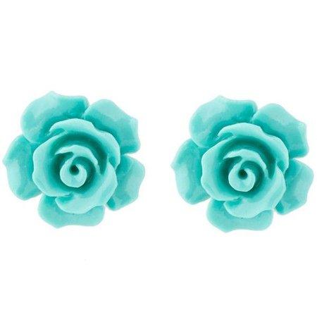 Turquoise Flower Shaped Earrings