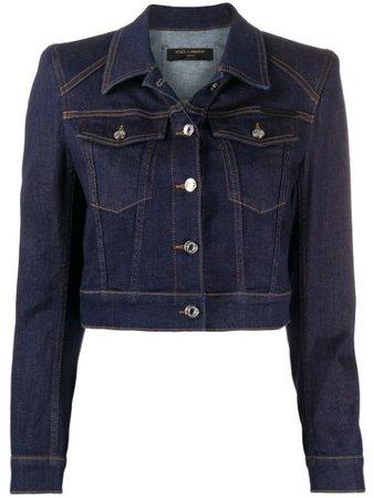 Dolce & Gabbana Structured Cropped Denim Jacket - Farfetch