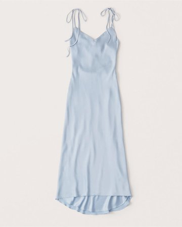 Women's Tie-Strap Midi Dress | Women's New Arrivals | Abercrombie.com