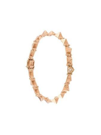 Anita Ko 18kt rose gold small diamond spike bracelet