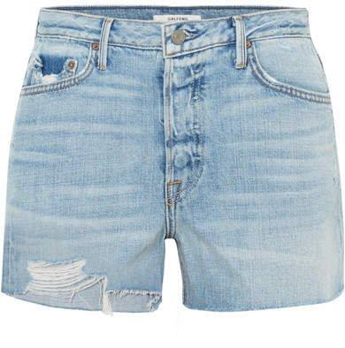 Helena Distressed Denim Shorts - Mid denim