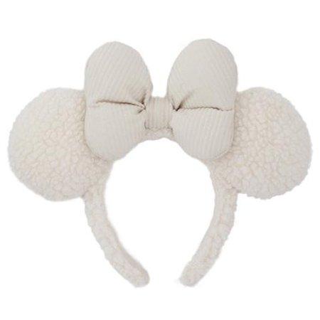 Fluffy Snow White Minnie Mouse Ear Headband