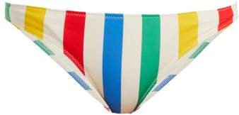 The Elle Striped Bikini Briefs - Womens - Multi Stripe