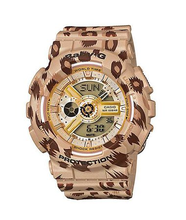 Baby-G: Gold Leopard Watch
