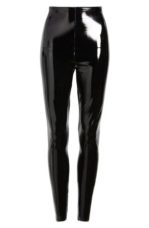Commando Control Top Faux Patent Leather Leggings | Nordstrom