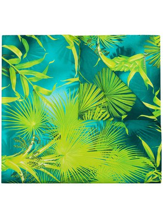 Versace tropical-print Silk Scarf - Farfetch