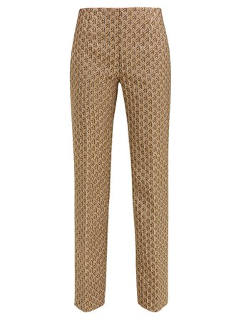High-rise geometric-brocade trousers | Prada | MATCHESFASHION.COM
