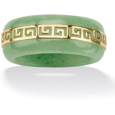 Jade Green & Gold Ring