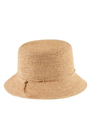 Helen Kaminski Packable Raffia Bucket Hat | Nordstrom