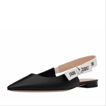 Dior Black J'adior Slingback Calfskin Flats Size EU 39 (Approx. US 9) Regular (M, B) - Tradesy