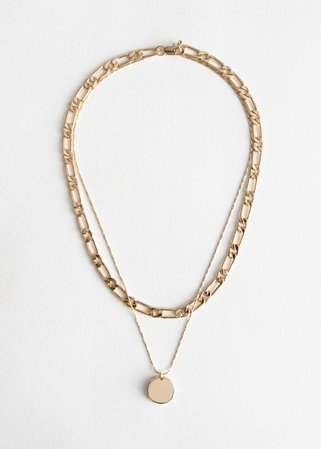 Pendant Multi Chain Necklace - Gold - Necklaces - & Other Stories