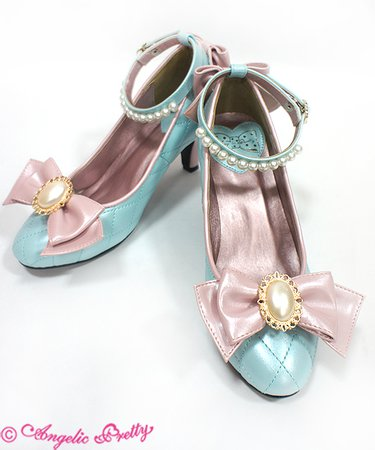 Victorian Ribbon Shoes - Angelic Pretty