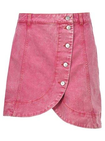 Ganni Washed Denim Mini Skirt