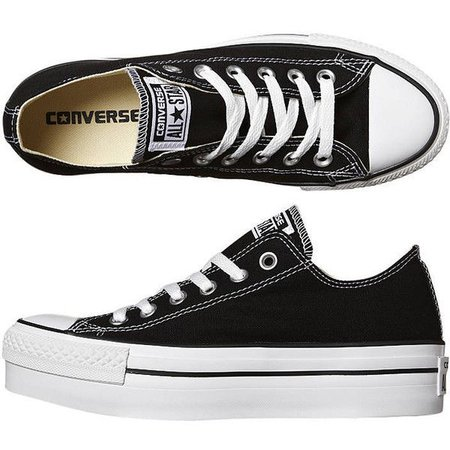 Low-Top Black & White Platform Converse