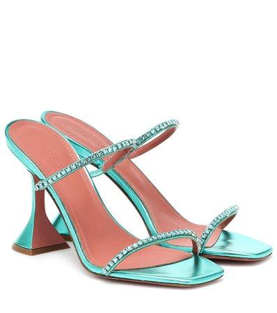 Gilda Embellished Leather Sandals