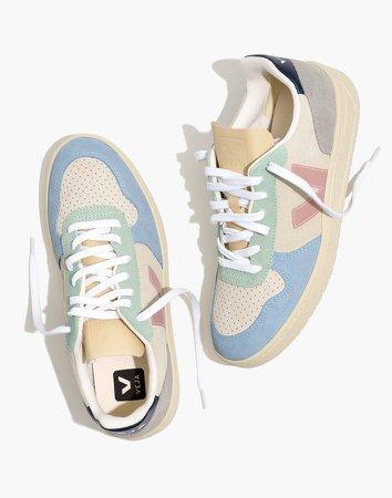 Veja Suede V-10 Sneakers in Blue