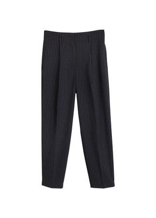 MANGO Pinstripe suit trousers