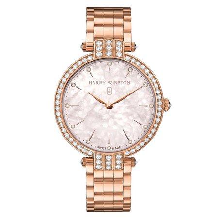 Harry Winston Rose Gold Premier Diamond Women's Watch   King Jewelers