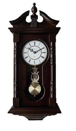 Vmarketingsite Wall Clocks: Grandfather Wood Wall Clock with Chime. Pendulum Wood Traditional Clock. Makes a Great House Warming or Birthday Gift Wall Clock Chimes Every Hour with Westminster Melody: Home & Kitchen