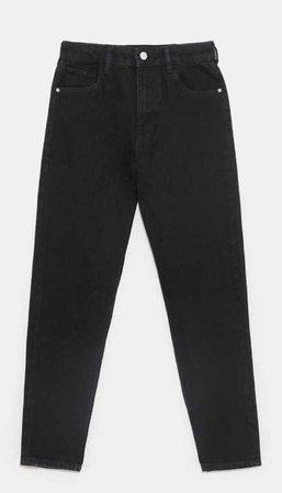 Zara black mom jeans