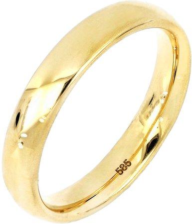 14K Gold Smooth Band Ring