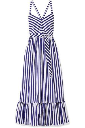 J.Crew | Ruffled striped cotton-poplin maxi dress | NET-A-PORTER.COM