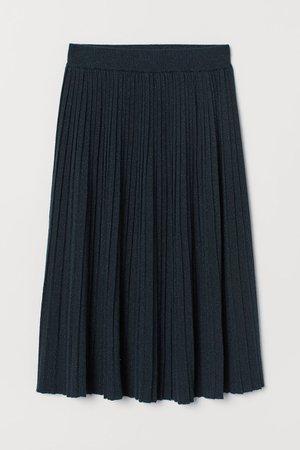 Glittery Fine-knit Skirt - Dark turquoise - Ladies | H&M US