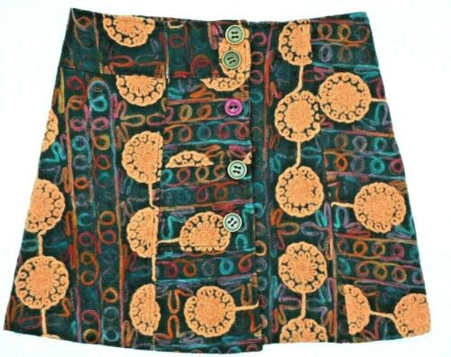 JOE BROWNS Designer brown black Multi FunQuirky Hippy boho Mini Skirt Size 12   eBay