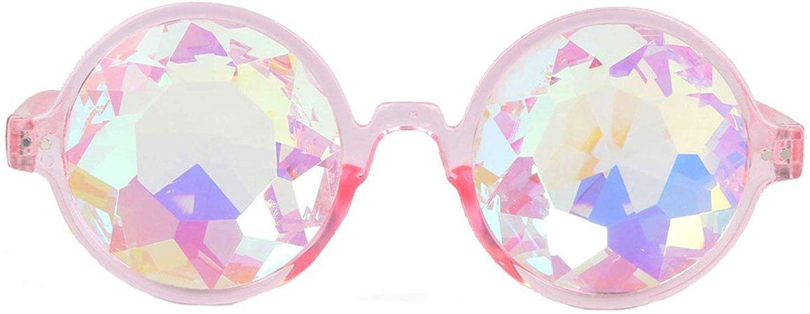 AFUT Kaleidoscope Prism Eyeglasses - Kaleidoscope Halloween Goggles, Crystal Lenses Cosplay Steampunk Goggles & Glasses for Halloween Costume, Cosplay Party Props: Amazon.co.uk: Clothing