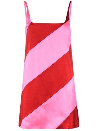 House Of Holland Striped Mini Dress RT20W0518 Pink   Farfetch