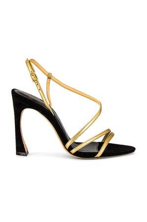 Alexandre Birman Alana 100 Sandal in Oro & Black | REVOLVE