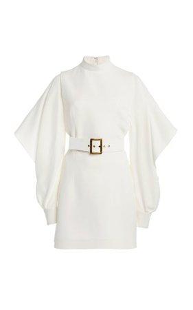Belted Draped-Sleeve Crepe Mini Dress By Andrew Gn | Moda Operandi