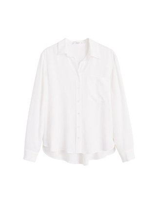 MANGO Pocket textured shirt