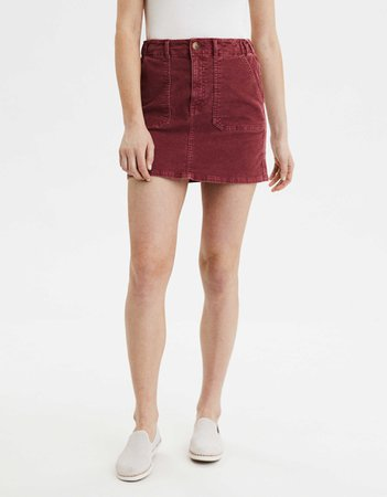 AE High-Waisted Corduroy A-Line Skirt