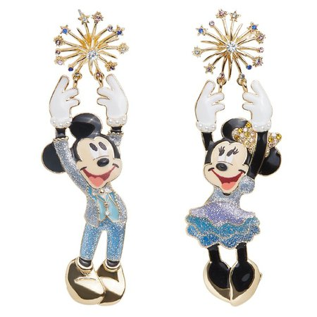 Mickey and Minnie Mouse Walt Disney World 50th Anniversary Earrings by BaubleBar | shopDisney