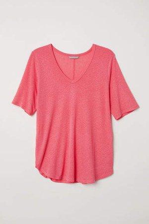 H&M+ V-neck Top - Pink