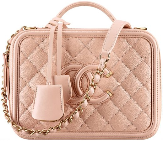Chanel CC Filigree Vanity Case Bag