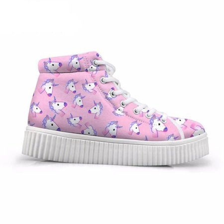 Unicorn Wedge High Top Sneakers Shoes Canvas Converse | Kawaii Babe