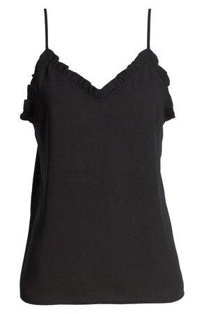 Halogen® Ruffle Trim Camisole black