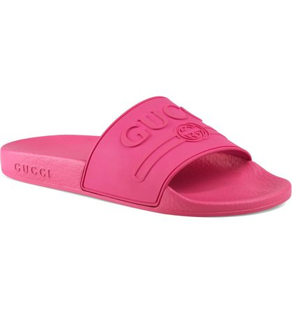 Gucci Pursuit Logo Slide Sandal (Women) | Nordstrom