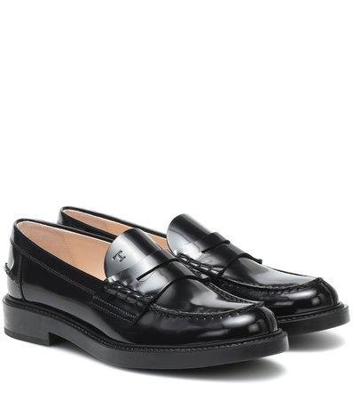 Tod's - Spiga leather loafers   Mytheresa