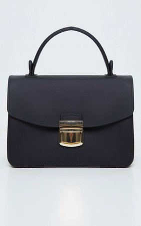 Black Rubber Finish Mini Bag | Accessories | PrettyLittleThing USA