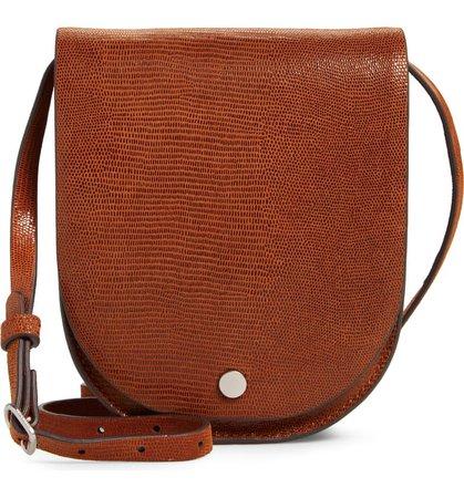 Treasure & Bond Ellis Flap Snakeskin Embossed Leather Crossbody Bag | Nordstrom