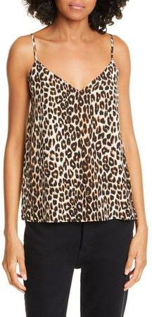 Layla Leopard Print Silk Camisole