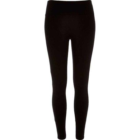 Black high waisted leggings - Leggings - Pants - women