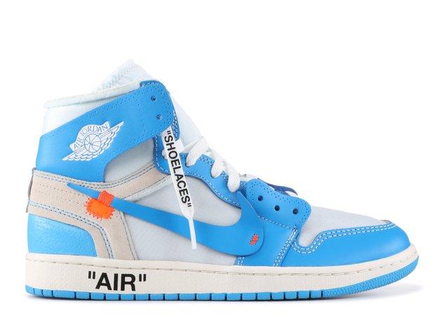 "Jordan 1 Retro High Off-white ""off White Unc"" - Air Jordan - aq0818 148 - white/dark powder blue-cone | Flight Club"