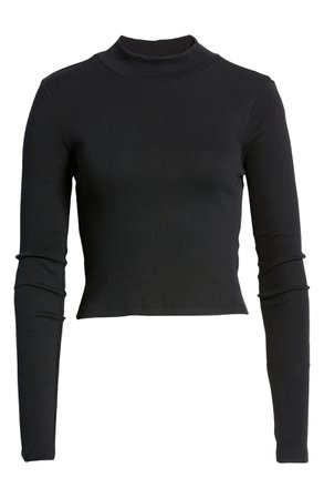 Mock Neck Crop Sweater   Nordstrom