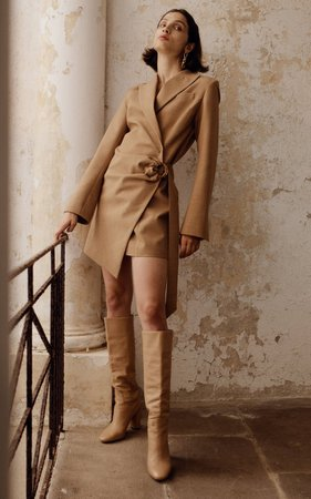 Valentina Wool-Blend Blazer Dress By Anna Quan | Moda Operandi