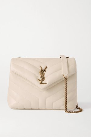 Loulou Small Quilted Leather Shoulder Bag - White